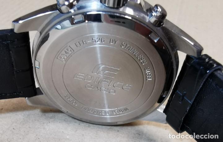 Relojes - Casio: RELOJ CASIO EDIFICE INOX ACERO INOXIDABLE, 10 BAR, CORREA DE CUERO para Hombre Y Mujer. COMO NUEVO - Foto 19 - 234763025