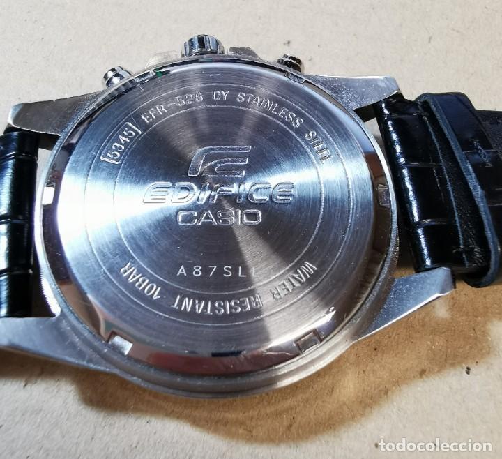 Relojes - Casio: RELOJ CASIO EDIFICE INOX ACERO INOXIDABLE, 10 BAR, CORREA DE CUERO para Hombre Y Mujer. COMO NUEVO - Foto 20 - 234763025