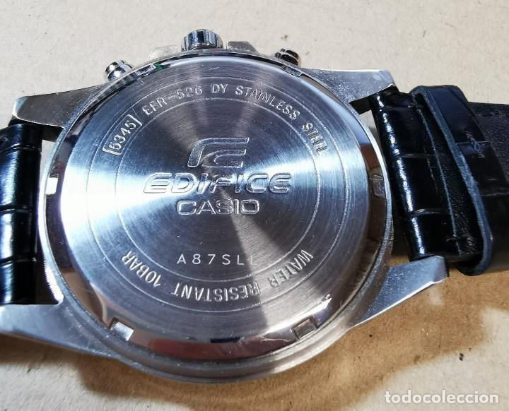 Relojes - Casio: RELOJ CASIO EDIFICE INOX ACERO INOXIDABLE, 10 BAR, CORREA DE CUERO para Hombre Y Mujer. COMO NUEVO - Foto 21 - 234763025