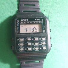 Relojes - Casio: ANTIGUO RELOJ CASIO C-60 .TAL CUAL COMO SE VE EN FOTOS. Lote 235699315