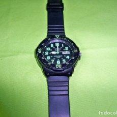 Relojes - Casio: RELOJ CASIO QUARTZ, COLOR NEGRO Y VERDE. Lote 237194800