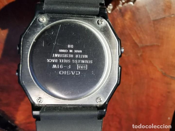 Relojes - Casio: RELOJ DE QUARTZ CASIO MODELO F 91 W FUNCIONANDO SEMI NUEVO - Foto 5 - 238855795
