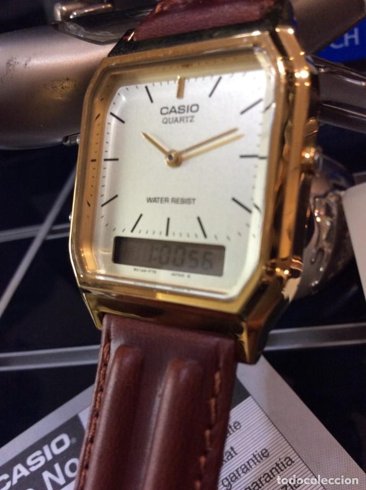 RELOJ CASIO AQ 230 G C GOLD ¡¡ ANA-DIGI VINTAGE !! ¡¡NUEVO!! (VER FOTOS) (Relojes - Relojes Actuales - Casio)