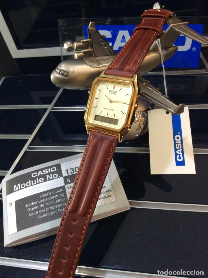 Relojes - Casio: RELOJ CASIO AQ 230 G C GOLD ¡¡ ANA-DIGI VINTAGE !! ¡¡NUEVO!! (VER FOTOS) - Foto 4 - 242869185