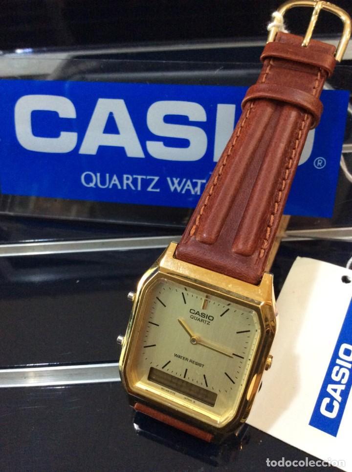 Relojes - Casio: RELOJ CASIO AQ 230 G C GOLD ¡¡ ANA-DIGI VINTAGE !! ¡¡NUEVO!! (VER FOTOS) - Foto 5 - 242869185