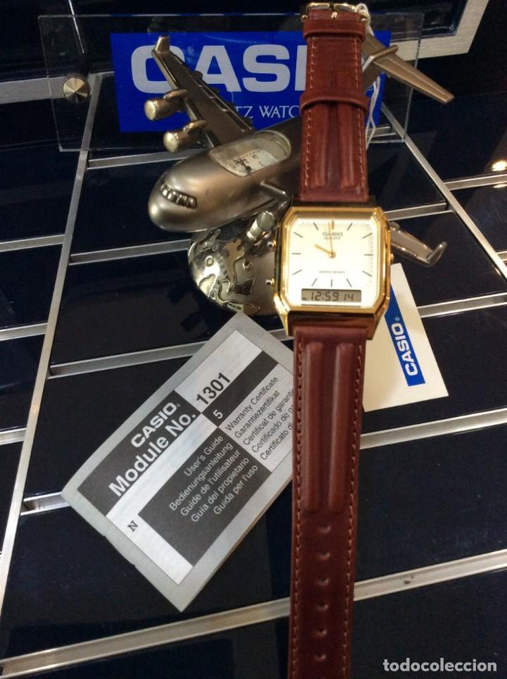 Relojes - Casio: RELOJ CASIO AQ 230 G C GOLD ¡¡ ANA-DIGI VINTAGE !! ¡¡NUEVO!! (VER FOTOS) - Foto 6 - 242869185