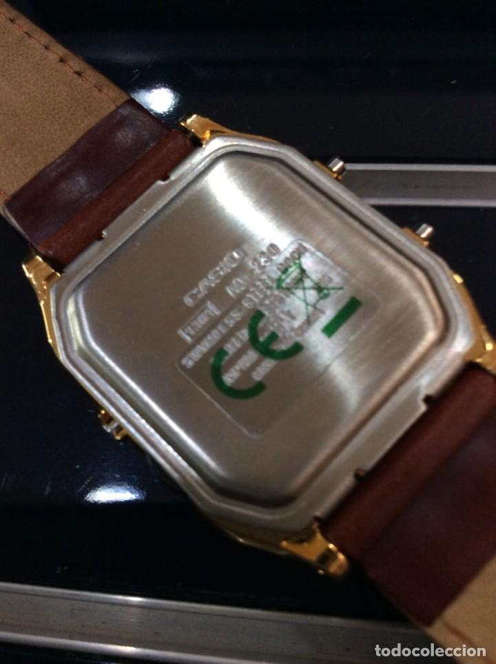 Relojes - Casio: RELOJ CASIO AQ 230 G C GOLD ¡¡ ANA-DIGI VINTAGE !! ¡¡NUEVO!! (VER FOTOS) - Foto 7 - 242869185