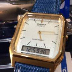 Relojes - Casio: RELOJ CASIO AQ 230 G D GOLD ¡¡ ANA-DIGI VINTAGE !! ¡¡NUEVO!! (VER FOTOS). Lote 242869715