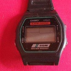 Relojes - Casio: RELOJ CASIO LITHIUM ALARMA CHRONO DE CUARZO .MIDE 35 MM DIAMETRO. Lote 245918865