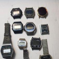 Relojes - Casio: RELOJES DIGITALES LOTE 11 PARA DESPIECE O REPARAR. Lote 247532715