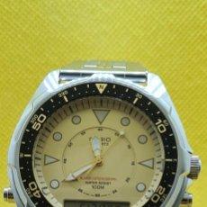 Relojes - Casio: RELOJ CABALLERO (VINTAGE) CASIO ANALÓGICO Y DIGITAL CON ALARMA EN ACERO, CORREA ACERO AMW 320C - 358. Lote 248433850