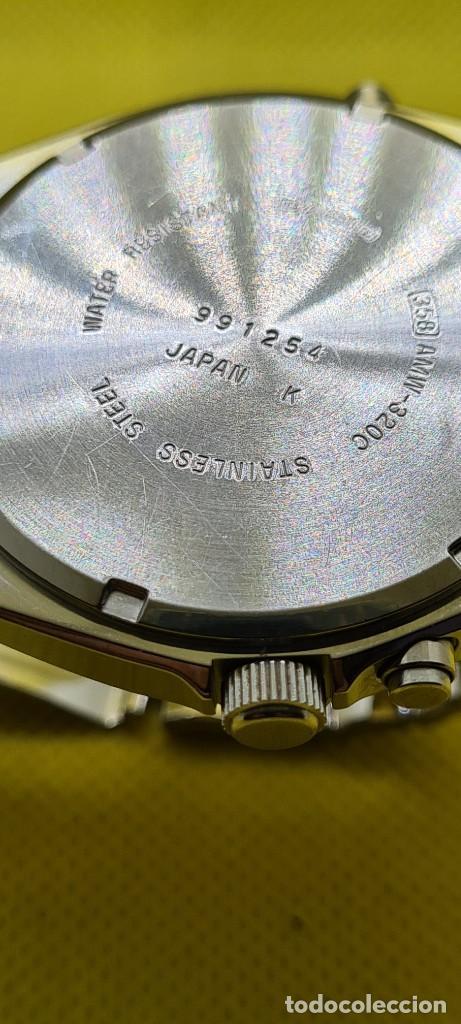 Relojes - Casio: Reloj caballero (Vintage) CASIO analógico y digital con alarma en acero, correa acero AMW 320C - 358 - Foto 12 - 248433850
