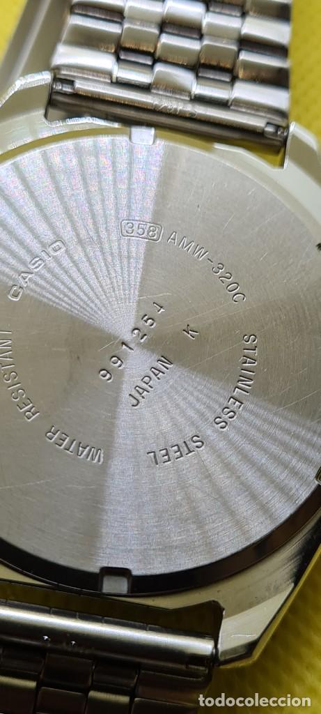 Relojes - Casio: Reloj caballero (Vintage) CASIO analógico y digital con alarma en acero, correa acero AMW 320C - 358 - Foto 16 - 248433850