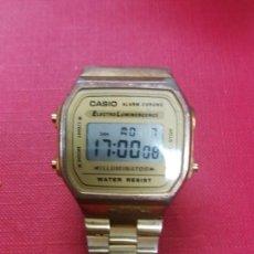 Relojes - Casio: RELOJ CASIO ALARM CHRONO DORADO FUNCIONA. Lote 253151060