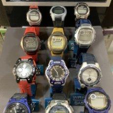 Relojes - Casio: ¡¡ 12 RELOJES CASIO VINTAGE ¡¡ LOTE E ¡¡ DEFECTUOSOS !! (VER FOTOS). Lote 253188245