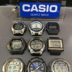 Relojes - Casio: ¡¡ 9 RELOJES CASIO VINTAGE ¡¡ LOTE A ¡¡ DEFECTUOSOS !! (VER FOTOS). Lote 253188430