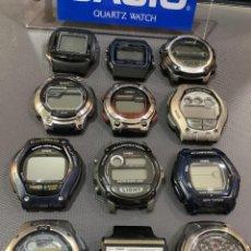 Relojes - Casio: ¡¡ 12 RELOJES CASIO VINTAGE ¡¡ LOTE B ¡¡ DEFECTUOSOS !! (VER FOTOS). Lote 253188685