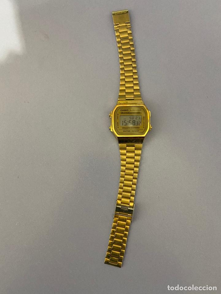 Relojes - Casio: Reloj de pulsera Casio, color dorado. Funcionando - Foto 2 - 254214115