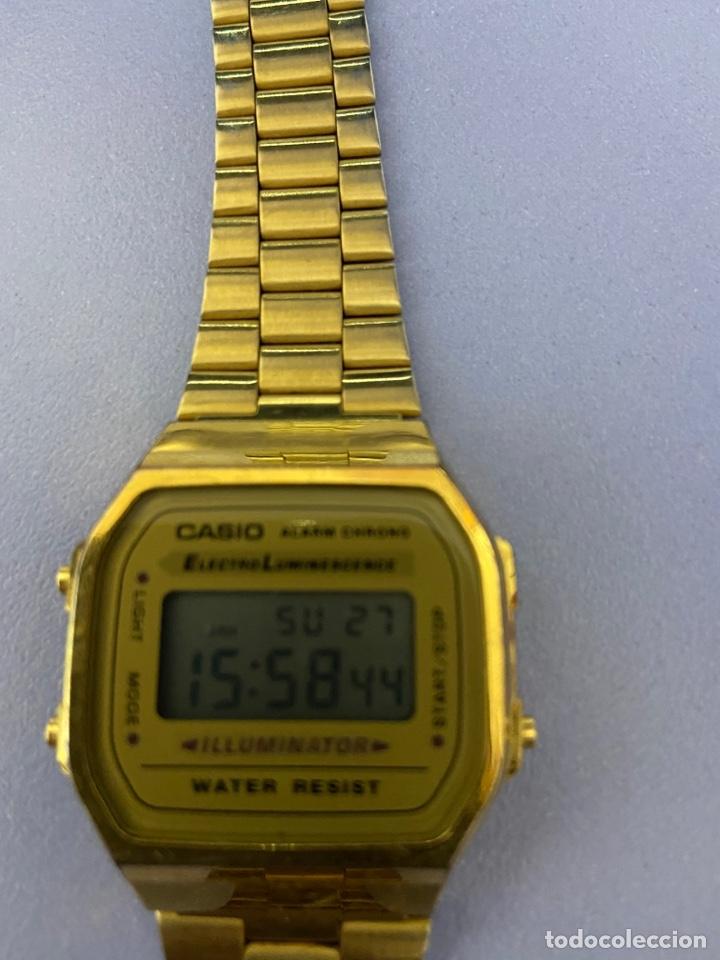 Relojes - Casio: Reloj de pulsera Casio, color dorado. Funcionando - Foto 3 - 254214115