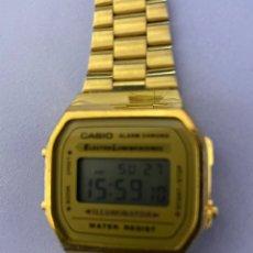 Relojes - Casio: RELOJ DE PULSERA CASIO, COLOR DORADO. FUNCIONANDO. Lote 254214115