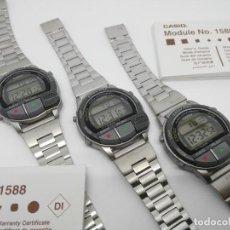 Relojes - Casio: LOTE DE 3 CASIO A-V1 GRABADORA DE VOZ EASY REC VINTAGE NUEVO NOS. Lote 255993455