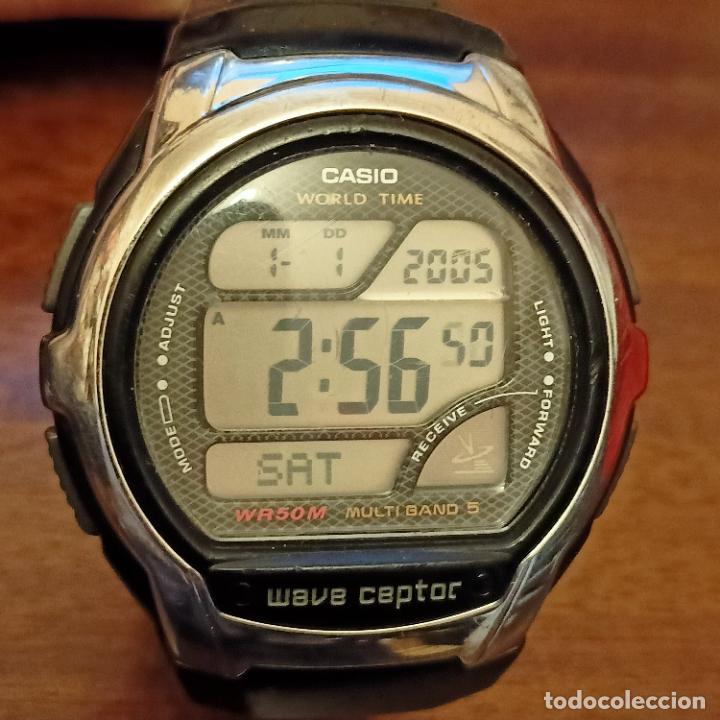 Relojes - Casio: Casio WV-58U WAVE CAPTOR MULTIBAND 5 (3053) WORLD TIME WR50M - Foto 3 - 258199020