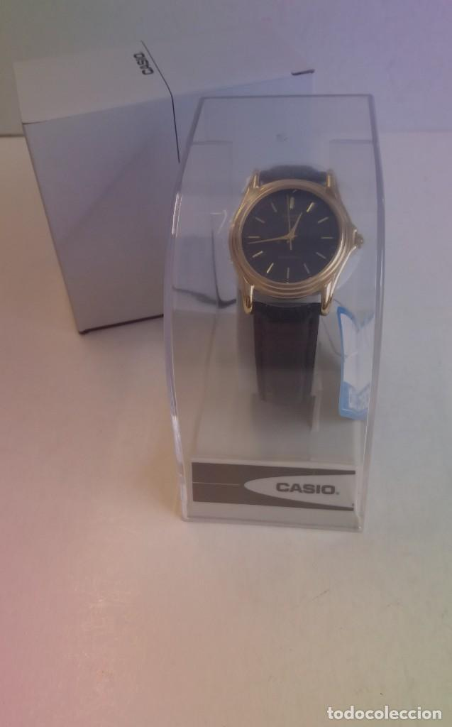 MAGNIFICO RELOJ CASIO MTP1096 HOMBRE CRISTAL MINERAL PIEL ABSOLUTAMENTE NUEVO (Relojes - Relojes Actuales - Casio)
