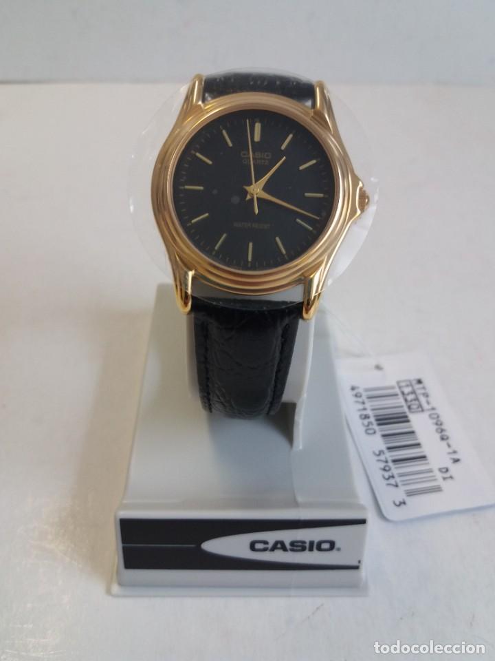 Relojes - Casio: MAGNIFICO RELOJ CASIO MTP1096 HOMBRE CRISTAL MINERAL PIEL ABSOLUTAMENTE NUEVO - Foto 2 - 262760895