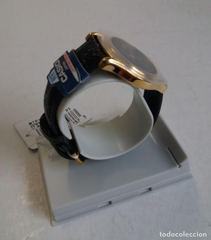 Relojes - Casio: MAGNIFICO RELOJ CASIO MTP1096 HOMBRE CRISTAL MINERAL PIEL ABSOLUTAMENTE NUEVO - Foto 4 - 262760895