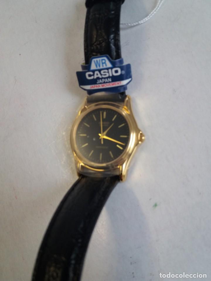 Relojes - Casio: MAGNIFICO RELOJ CASIO MTP1096 HOMBRE CRISTAL MINERAL PIEL ABSOLUTAMENTE NUEVO - Foto 5 - 262760895