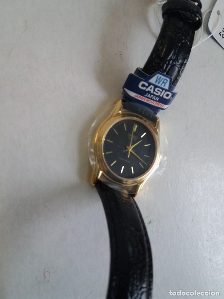 Relojes - Casio: MAGNIFICO RELOJ CASIO MTP1096 HOMBRE CRISTAL MINERAL PIEL ABSOLUTAMENTE NUEVO - Foto 6 - 262760895