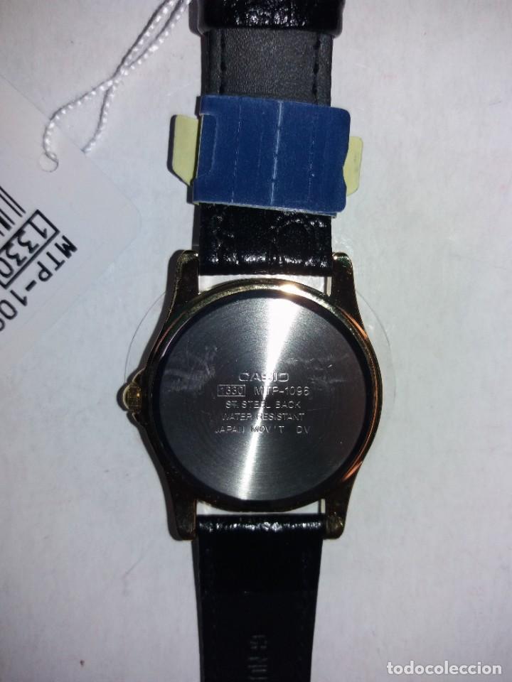 Relojes - Casio: MAGNIFICO RELOJ CASIO MTP1096 HOMBRE CRISTAL MINERAL PIEL ABSOLUTAMENTE NUEVO - Foto 9 - 262760895