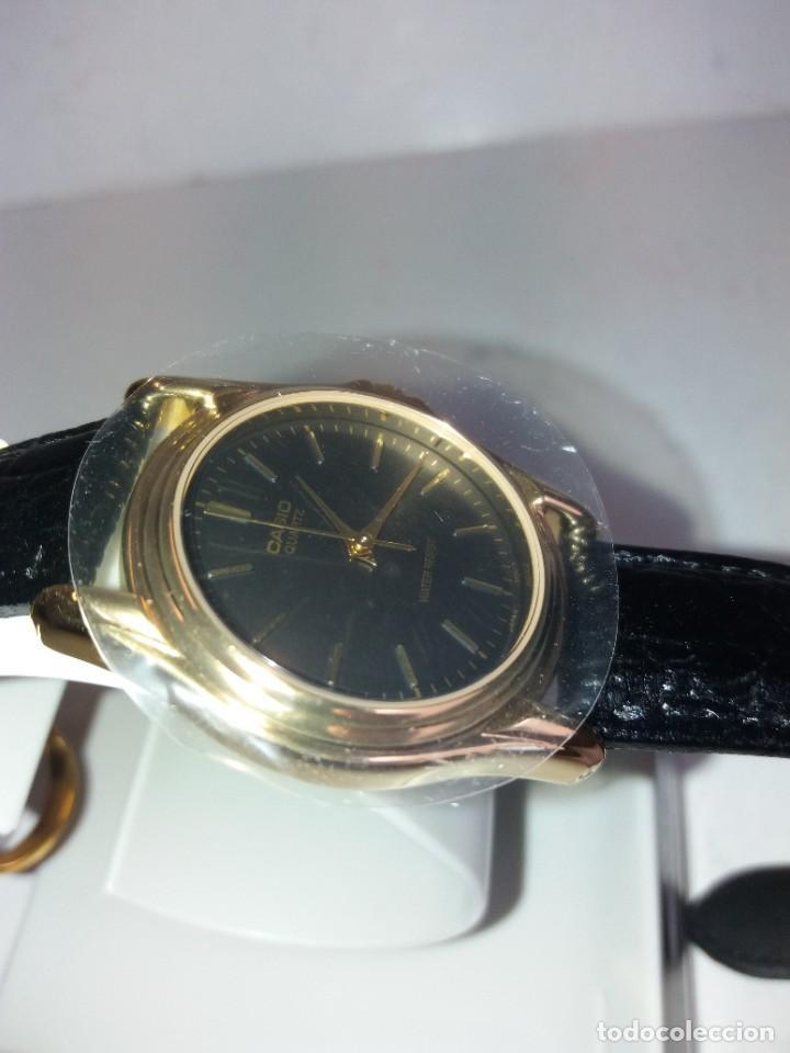 Relojes - Casio: MAGNIFICO RELOJ CASIO MTP1096 HOMBRE CRISTAL MINERAL PIEL ABSOLUTAMENTE NUEVO - Foto 13 - 262760895