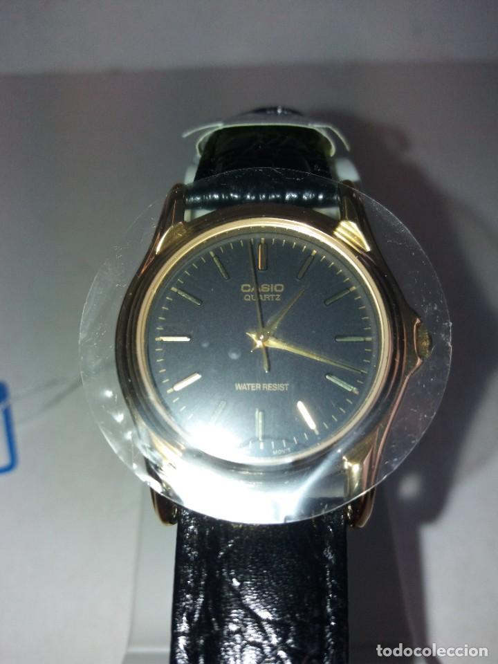Relojes - Casio: MAGNIFICO RELOJ CASIO MTP1096 HOMBRE CRISTAL MINERAL PIEL ABSOLUTAMENTE NUEVO - Foto 16 - 262760895