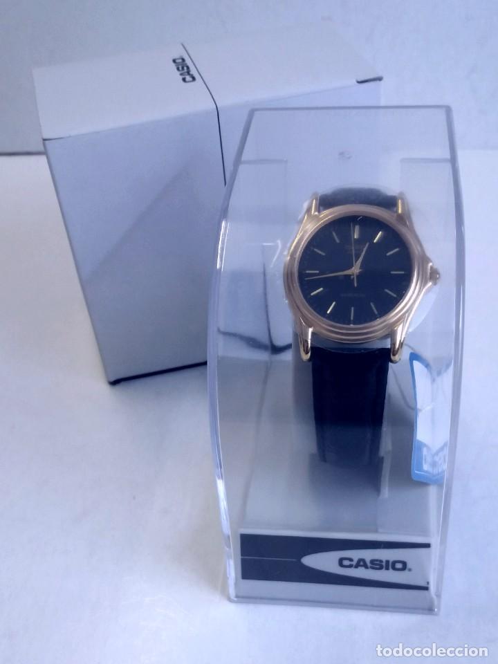 Relojes - Casio: MAGNIFICO RELOJ CASIO MTP1096 HOMBRE CRISTAL MINERAL PIEL ABSOLUTAMENTE NUEVO - Foto 23 - 262760895