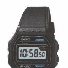 Relojes - Casio: RELOJ PULSERA HOMBRE CASIO LITHIUM F-30 VINTAGE ORIGINAL MODULO 1007 NUEVO. Lote 266919139