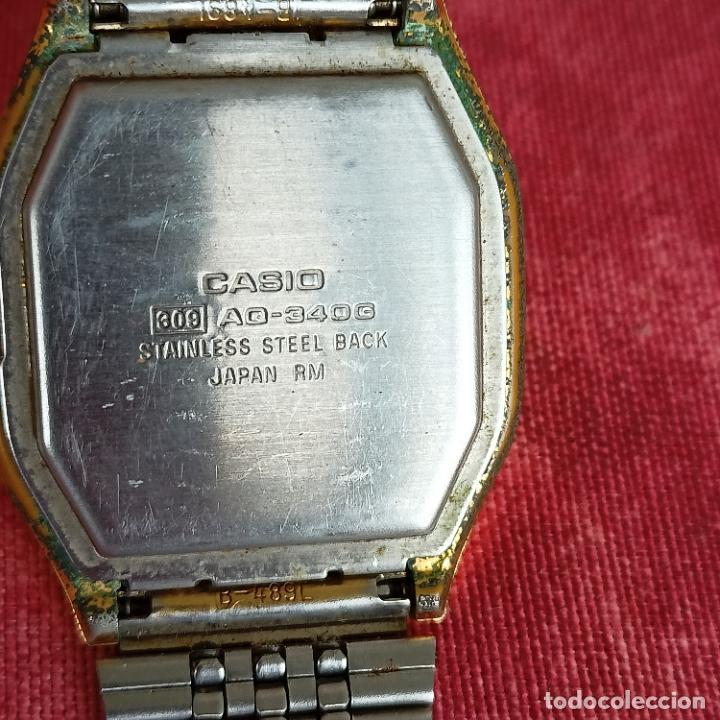 Relojes - Casio: Casio dorado analógico y digital aq-340g no funciona - Foto 3 - 272457063