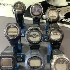 Relojes - Casio: ¡¡ 9 RELOJES CASIO VINTAGE ¡¡ LOTE A ¡¡ DEFECTUOSOS !! (VER FOTOS). Lote 274635123