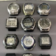 Relojes - Casio: ¡¡ 12 RELOJES CASIO VINTAGE ¡¡ LOTE M ¡¡ DEFECTUOSOS !! (VER FOTOS). Lote 274806063