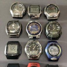 Relojes - Casio: ¡¡ 12 RELOJES CASIO VINTAGE ¡¡ LOTE N ¡¡ DEFECTUOSOS !! (VER FOTOS). Lote 274806323