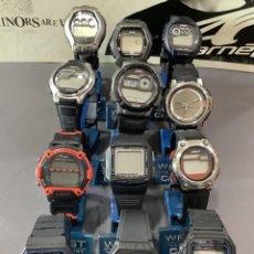 Relojes - Casio: ¡¡ 12 RELOJES CASIO VINTAGE ¡¡ LOTE R ¡¡ DEFECTUOSOS !! (VER FOTOS). Lote 275943843