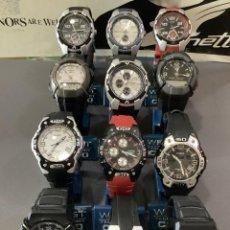 Relojes - Casio: ¡¡ 12 RELOJES CASIO VINTAGE ¡¡ LOTE T ¡¡ DEFECTUOSOS !! (VER FOTOS). Lote 276081903