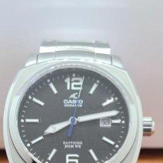 Relojes - Casio: RELOJ CASIO. OCEANUS CUARZO CAJA ACERO, CORONA ROSCA, ESFERA NEGRA, CALENDARIO TRES, CORREA ORIGINAL. Lote 284148333