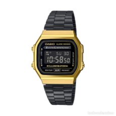 Relojes - Casio: RELOJ CASIO VINTAGE ICONIC A168WEGB-1BEF NEGRO/DORADO. Lote 288012243