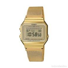 Relojes - Casio: RELOJ CASIO VINTAGE ICONIC A700WEMG-9AEF DORADO. Lote 288015008
