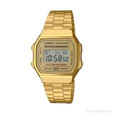 Relojes - Casio: RELOJ CASIO VINTAGE ICONIC A168WG-9EF DORADO. Lote 288018688