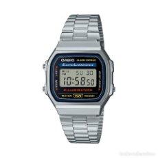 Relojes - Casio: RELOJ CASIO VINTAGE ICONIC A168WA-1YES PLATA. Lote 288019223