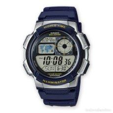 Relojes - Casio: RELOJ CASIO COLLECTION AE-1000W-2AVEF AZUL/PLATA. Lote 288020323