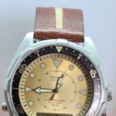 Relojes - Casio: RELOJ CABALLERO (VINTAGE) CASIO ANALÓGICO Y DIGITAL CON ALARMA EN ACERO, CORREA ACERO AMW 320C - 358. Lote 290777138