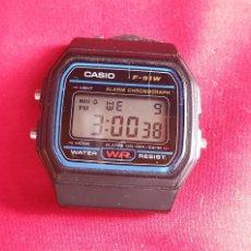 Relojes - Casio: RELOJ CASIO F-91W WATER CUARZO FUNCIONA. MIDE 32 MM DIAMETRO. Lote 293566798